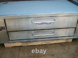2 Bakers Pride Y 600 Natural Deck Gas Double Pizza Ovens New Stones