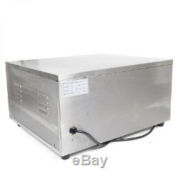 2000W Electric Pizza Oven Fire Stone Commercial Single Deck Stainless Steel USA