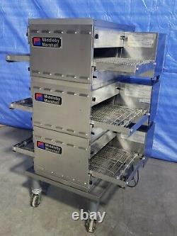 2012 Middleby Marshall PS520G Triple Deck Conveyor Pizza Oven Belt Width 18