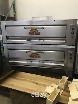 2016 Montague 25p-2 Gas used Double Deck Pizza Oven with stones