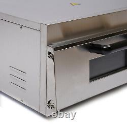 2KW 1 Deck Pizza Bread Break Oven Pizza Maker Stainless Steel Bread Toaster NEW