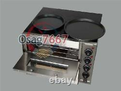 3000W 110V 16 Double deck Electric Pizza Oven Commercial Ceramic Stone New