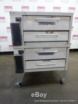 Bakers Pride 252 Gas Double Deck Pizza Oven Deck 36 with Stone & Legs