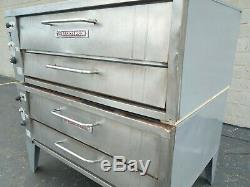 Bakers Pride 451 452 Natural Gas Double Deck Pizza Ovens Y-600 Cleaned Tested