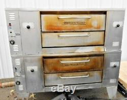 Bakers Pride DS 990 Commercial 48 x 36 Double Deck Pizza Oven 140,000 BTU