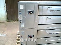 Bakers Pride Ds805 Natural Deck Gas Double Pizza Ovens New Stones With Legs