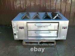 Bakers Pride Ds805 Natural Deck Gas Pizza Oven New Stones With Legs