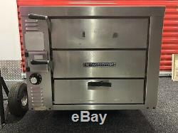 Bakers Pride GP61 Double Deck Nat Gas Stone Pizza Ovens