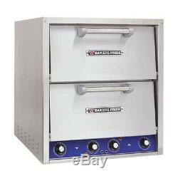 Bakers Pride P44-BL Countertop Electric Pizza Oven, 2 Deck, Brick Lined Hearth