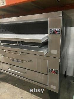 Bakers Pride Y-602 Natural Gas / Lp Double Deck Pizza Ovens Removed Working