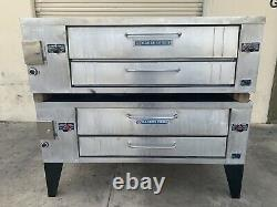 Bakers Pride Y-602 y-600 double deck natural gas pizza ovens