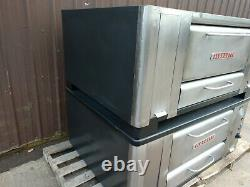 Blodgett 1000 High Btus Natural Deck Gas Double Pizza Oven With Brand New Stones