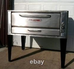 Blodgett 1048 Deck Nat Gas Double Pizza Oven Brand New Stones Bake 120k Btu