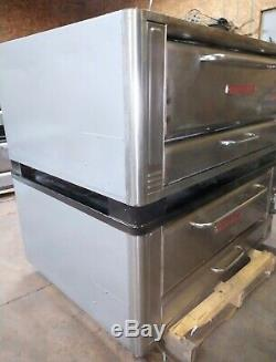 Blodgett 1048 High Btus Natural Deck Gas Double Pizza Ovens With Brand New Stone