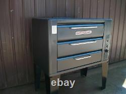 Blodgett 931 Natural Deck Gas Double Pizza Oven With Brand New Stones Bake