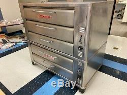 Blodgett 961/981 Triple Deck Pizza Baking Gas Oven