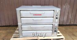 Blodgett 961p Natural Deck Gas Double Pizza Oven With New Stones