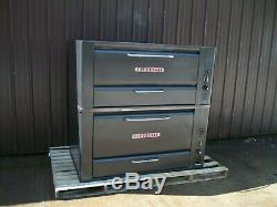 Blodgett 966 Natural Deck Gas Double Pizza Oven With New Stones