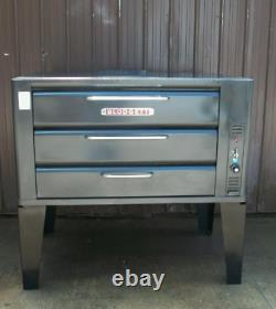 Blodgett 981 Natural Deck Gas Double Pizza Oven With Brand New Stones Bake