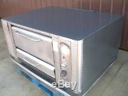 Blodgett 999 Natural Deck Gas Double Pizza Oven New Stones 26 In Legs