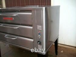 Blodgett Ss 981 Natural Deck Gas Double Pizza Oven With Brand New Stones Bake