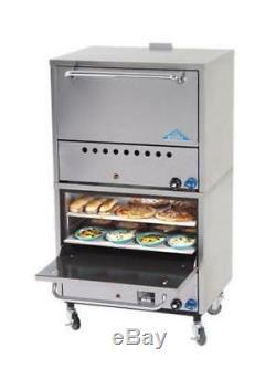 Comstock Castle Gas Pizza Oven Counter Double Stack Four 19.5 Hearth Decks