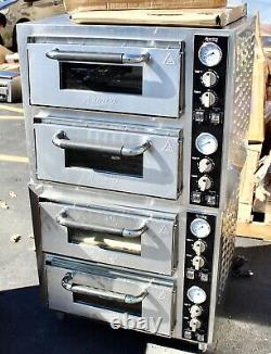 Counterop Double Deck Pizza Oven- 2 Chambers