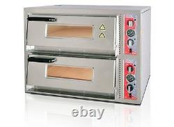 ELECTRIC PIZZA OVEN DOUBLE DECK BRAND NEW CANMAC CATERING 8x12 Pizza