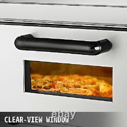 Electric 2000W Pizza Oven Single Deck Ceramic Stone Bake Broiler Restaurant