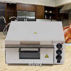 Electric 2000W Pizza Oven Single Deck Commercial Stainless Steel Bake Broiler
