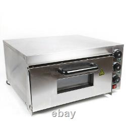Electric 2kw Pizza Oven Double Deck Commercial Stainless Steel Pizza Toaster NEW