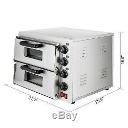 Electric 3000W Pizza Oven Double Deck Countertop Baking Oven Toaster Cooking