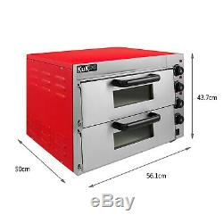 Electric Pizza Oven 2 x 16 Twin Deck Commercial Baking Oven Fire Stone Catering