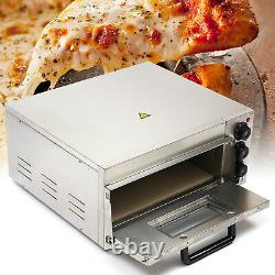Electric Pizza Oven 2KW 110V Single Deck Fire Stone Countertop Pizza Baking Tool
