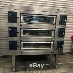 Electric Triple Stone Deck Stainless Bakery Pizza Ovens Revent 649 HC #2961 NSF
