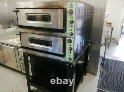 Fimar 2 level dual door Electric Double Deck Italian Pizza Oven with Table