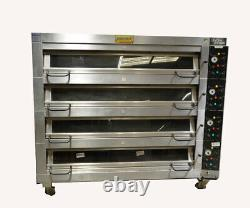Gemini DC-44 SVEBA DAHLEN 4-Deck Commercial Bakery Pizza Oven Electric with Steam