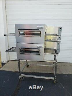 Lincoln Impinger 1116 Double Deck Gas Conveyor Pizza Ovens Belt Width 18