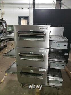 Lincoln Impinger 1116 Triple Deck Conveyor Pizza Oven Belt Width 18