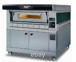 MORETTI FORNI P110G A1 GAS PIZZA OVEN P110G 44x29x7 1 DECK WITH TRAY GUIDE BASE