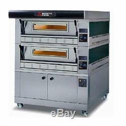 MORETTI FORNI P110G A2 Gas Pizza Oven P110G 44'' x 29'' x 7'' 2 Decks