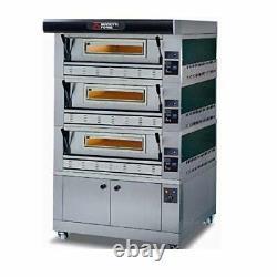 MORETTI FORNI P110G A3 Gas Pizza Oven P110G 44'' x 29'' x 7'' 3 Decks