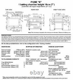 MORETTI FORNI P120 B1 ELECTRIC PIZZA OVEN P120 49x34 1 DECK WITH TRAY GUIDE BASE