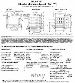 MORETTI FORNI P120 B3 ELECTRIC PIZZA OVEN P120 49x34 3 DECK WITH TRAY GUIDE BASE