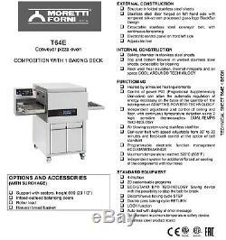 MORETTI FORNI T64E1 ELECTRIC CONVEYOR PIZZA OVEN T64E 24''x16''x3'' 1 DECK
