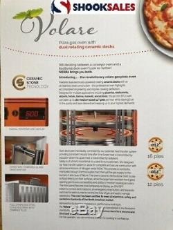 MVP Group VOLARE Pizza Bake Oven, rotating Deck-Type, Gas up to 160 pie per hour