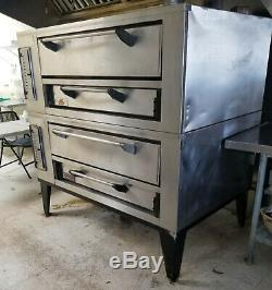 Marsal Deck PIzza Oven Double Stack Ovens with stones and legs 95K BTU's
