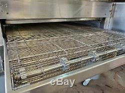 Middleby Marshall Ps570s Double Deck Natural Gas Conveyor Pizza Ovens Cleaned