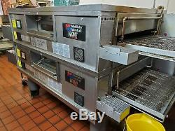 Middleby Marshall Ps870 Wow Double Deck Natural Gas Conveyor Pizza Ovens Cleaned