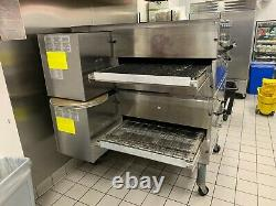 Middleby Marshall WOW PS840G Double Deck Conveyor Pizza Oven Belt Width 32